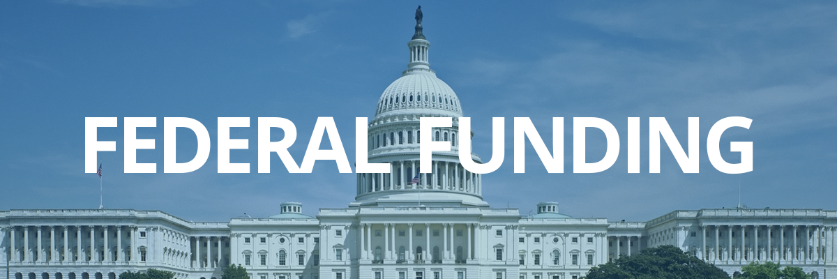 Federal funding banner