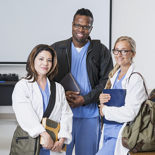 Image of three nursing students